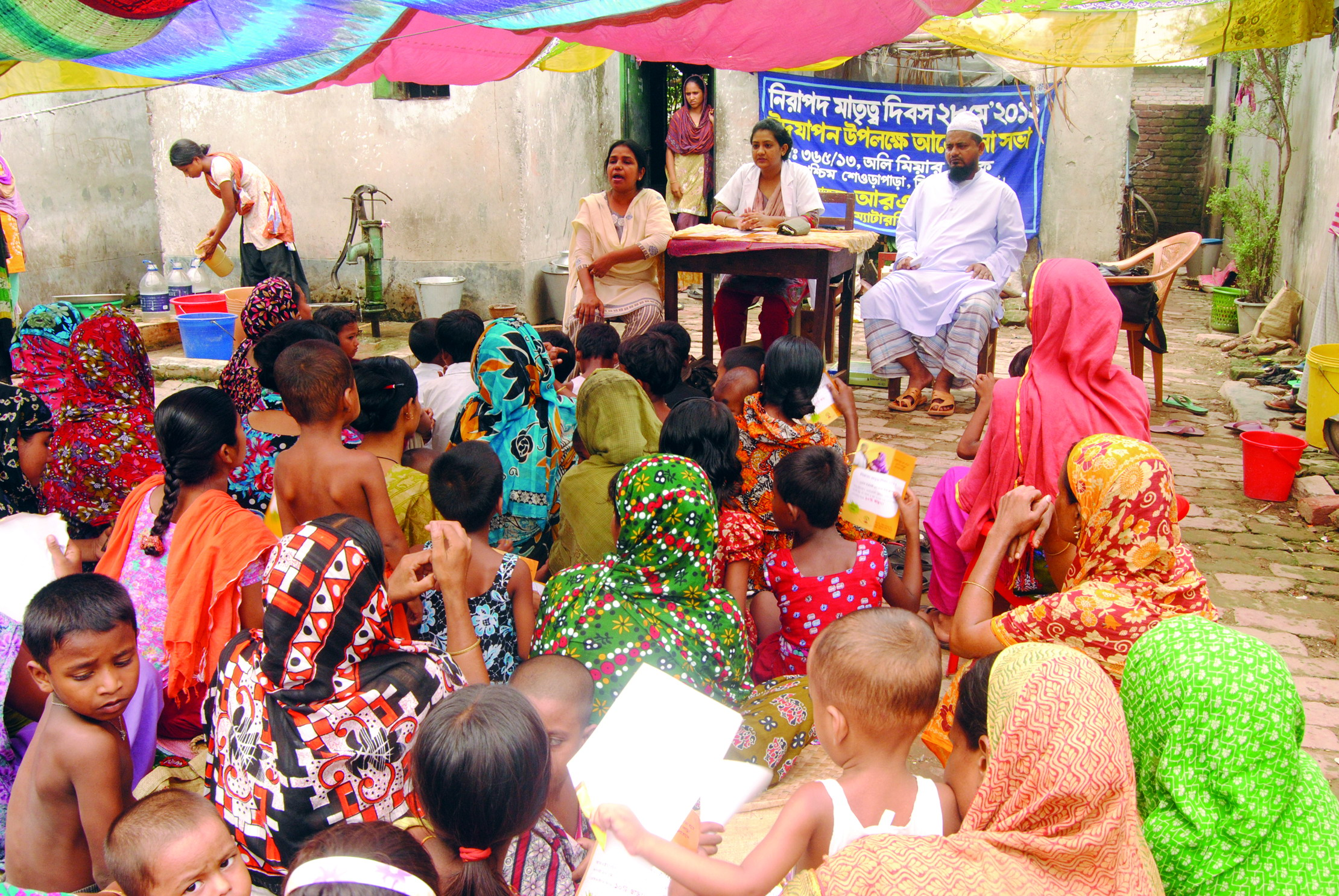 Open discussion with the women about SRHR on Safe Motherhood Day. Picture courtesy RHSTEP