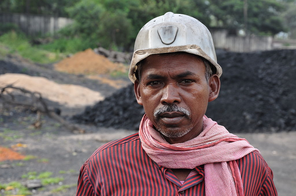 Image by Biswarup Ganguly on Wikimedia Commons. https://commons.wikimedia.org/wiki/File:Coal_Miner_1958.JPG
