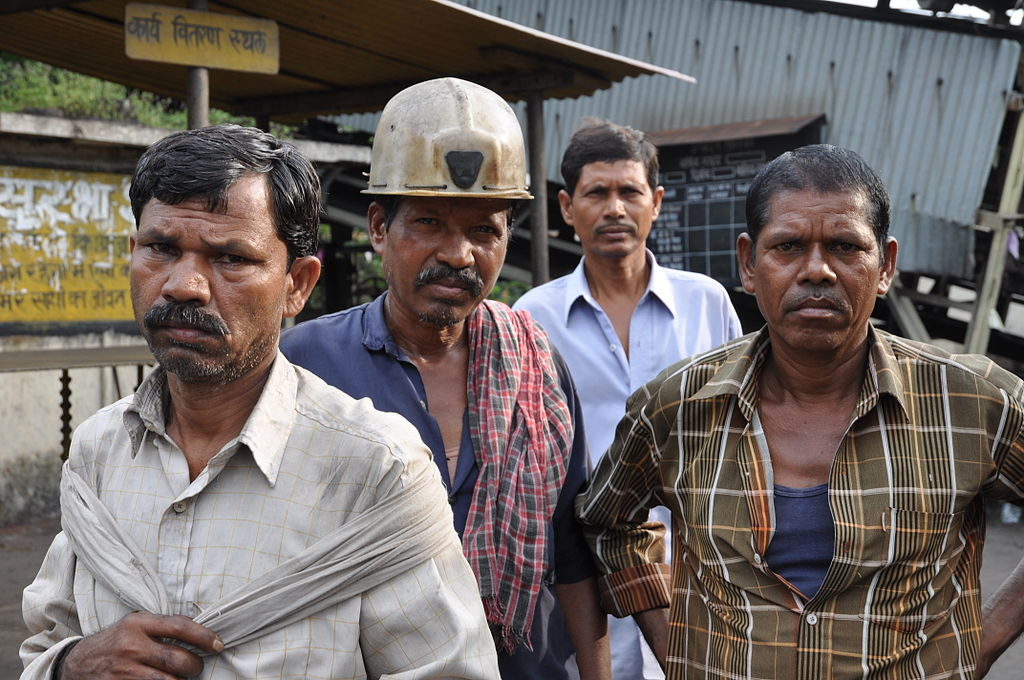 Image by Biswarup Ganguly on Wikimedia Commons.  https://commons.wikimedia.org/wiki/File:Coal_Miners_1993.JPG