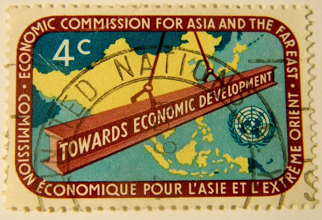 Image by By Paasikivi via Wikimedia Commons. https://commons.wikimedia.org/wiki/File:UN-Economic-Commission-For-Asia_and_the_Far_East_(ECAFE)-Postage-Stamp.JPG