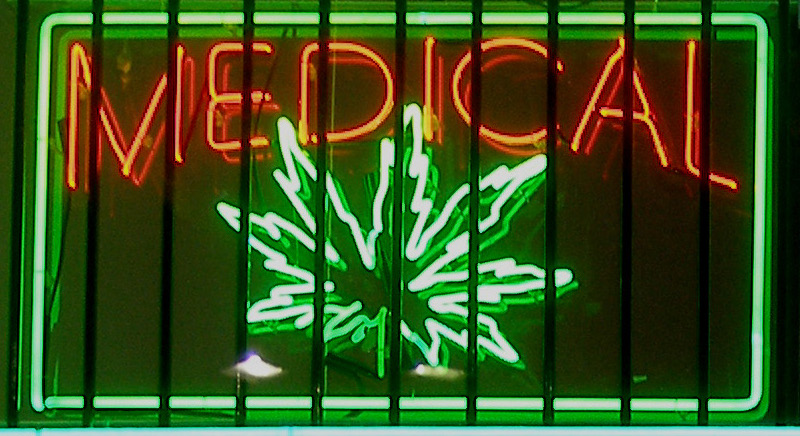 Image by Laurie Avocado via Wikimedia Commons. https://commons.wikimedia.org/wiki/File:Medical-marijuana-sign.jpg