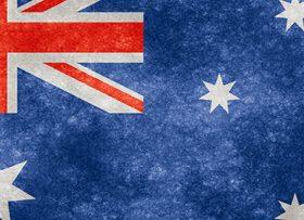 Australian flag grunge cropped 5