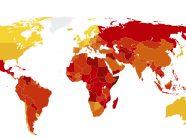CPI 2017 global map
