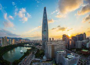 Lotte World Tower in Seoul, South Korea