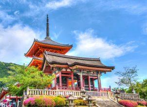 Senso-Ji temple in Japan with blue sky