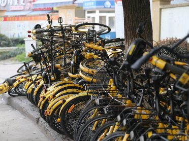 Dumped Share Bikes