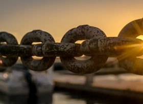 Sunlight shining through chain