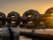 Sunlight shining through chain